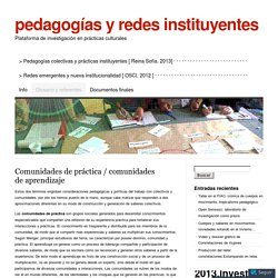 Comunidades de práctica / comunidades de aprendizaje