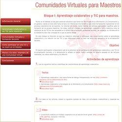 Comunidades Virtuales para Maestros