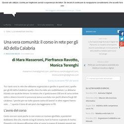 Una vera comunità: il corso in rete per gli AD della Calabria – BRICKS