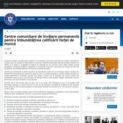 Centre comunitare de învățare permanentă pentru îmbunătățirea calificării forței de muncă