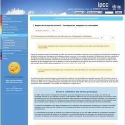 D. Conaissances actuelles sur les réponses au changement climatique - RE4 WGII Résumé à l'intention des décideurs