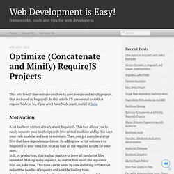 Optimize (Concatenate and Minify) RequireJS Projects - Web Development is Easy!