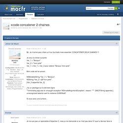 xcode concatener 2 chaines - Forum de macfr.com