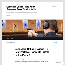 Concealed Online Reviews – 5 Best Portable, Packable Pistols on the Planet!