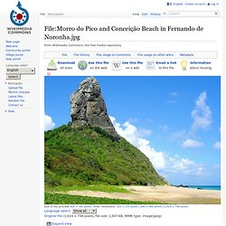 Fernando de Noronha Praia da Conceição .jpg - Wikipedia, the free encyclopedia