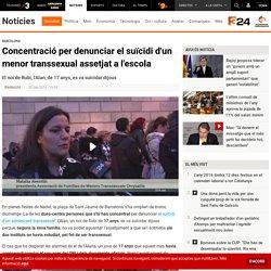 Concentració per denunciar el suïcidi d'un menor transsexual assetjat a l'escola