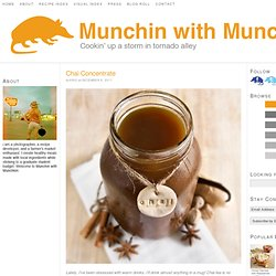 Chai Concentrate « munchin with munchkin
