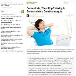 Concentrate, Then Stop Thinking to Generate More Creative Insights