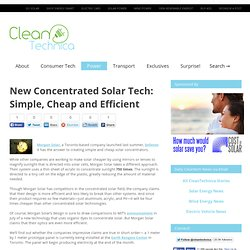 New Concentrated Solar Tech: Simple, Cheap and Efficient : CleanTechnica