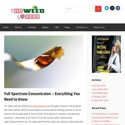 Full Spectrum Concentrates - Everything You Need to Know - The Weed Lovers
