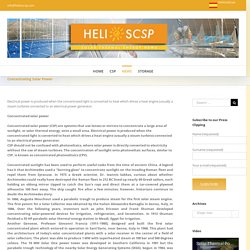 Concentrating Solar Power – HELIOSCSP