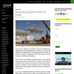 Concentrating Solar Power in Egypt
