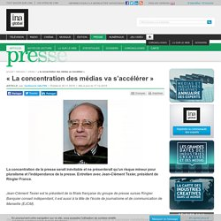 InaGloba, 30/11/2015/ « La concentration des médias va s'accélérer »