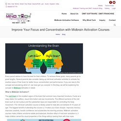 Improve Your Focus and Concentration with Midbrain Activation Courses