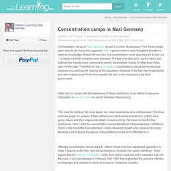 Concentration camps in Nazi Germany