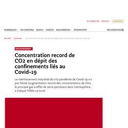 Concentration record de CO2 en dépit des confinements liés au Covid-19