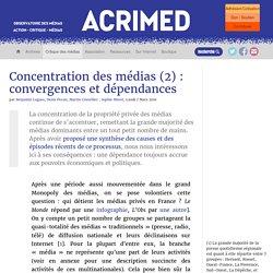 Concentration des médias (2) : convergences et dépendances