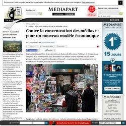 Contre la concentration des médias et pour un nouveau modèle économique