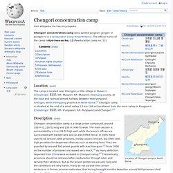 No 12: Chongori concentration camp