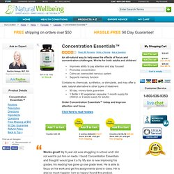 Concentration Essentials for Attention Deficit Disorder - Natural, Herbal Treatment for ADD, ADHD