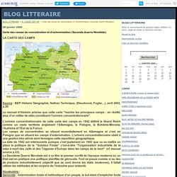Carte des camps de concentration et d'extermination (Seconde Guerre Mondiale) - BLOG LITTERAIRE