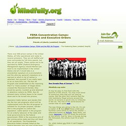 FEMA Concentration Camps: Locations and Executive Orders - Friends of Liberty (undated) 3sep04