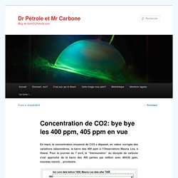 Concentration de CO2: bye bye les 400 ppm, 405 ppm en vue