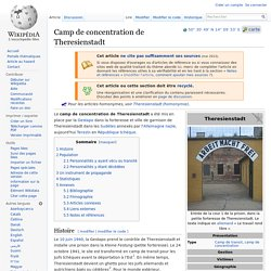 Camp de concentration de Theresienstadt