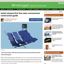 GoSol releases first free solar concentrator construction guide