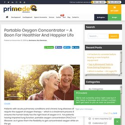 Portable Oxygen Concentrator For Healthier & Happier Life by PrimedeQ