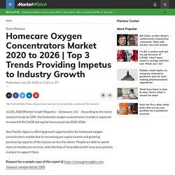 Homecare Oxygen Concentrators Market 2020 to 2026