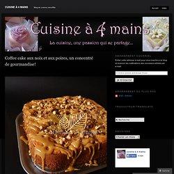 Coffee cake aux noix et aux poires, un concentré de gourmandise!