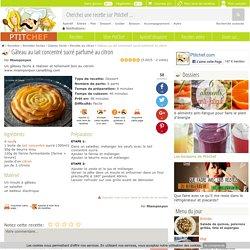 Gâteau au lait concentré sucré parfumé au citron, Recette Ptitchef