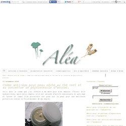 Crème anti-âge pour peau sèche au thé vert et au concentré de phytostérols d'avocat. - Aléa