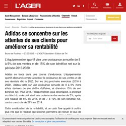 Adidas se concentre sur les attentes de ses clients pour améliorer sa rentabilité