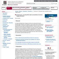 Grand Lyon : la précarité reste concentrée à l'est de l'agglomération