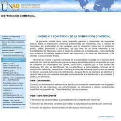UNIDAD Nº 1 CONCEPCIÓN DE LA DISTRIBUCIÓN COMERCIAL
