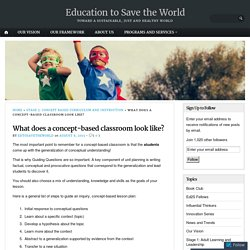 What does a concept-based classroom look like? – Education to Save the World