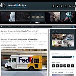 "Concept de communication, FedEx ""Always First"""