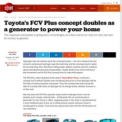 Toyota's FCV Plus concept doubles as a generator to power your home