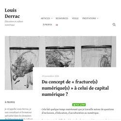 Louis Derrac - Du concept de « fracture(s) numérique(s) » à celui de capital numérique ?