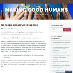 Concept-Based Unit Mapping – Making Good Humans