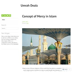 Concept of Mercy in Islam – Umrah Deals