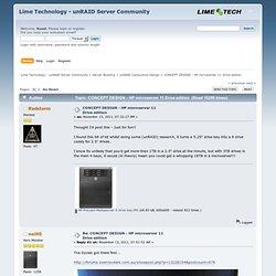 CONCEPT DESIGN - HP microserver 11 Drive edition