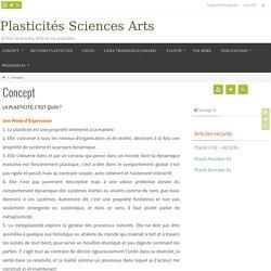 Concept – Plasticités Sciences Arts