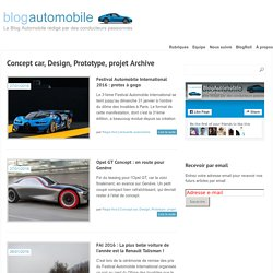 Concept car, Design, Prototype, projet Archives