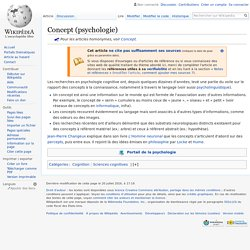 Concept (psychologie)