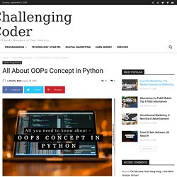 All About OOPs Concept in Python - Challenging Coder
