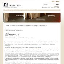 Concept — recensio.net