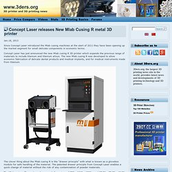 Concept Laser releases New Mlab Cusing R metal 3D printer